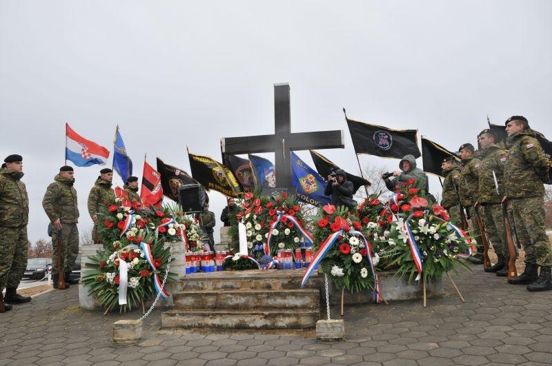 """Veterani 4. gardijske brigade na proslavi 26. obljetnice """"VRO Maslenica 93"""""""