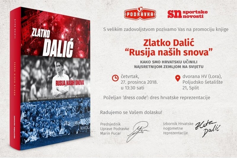 """Poziv na promociju knjige Zlatka Dalića """"Rusija naših snova"""""""