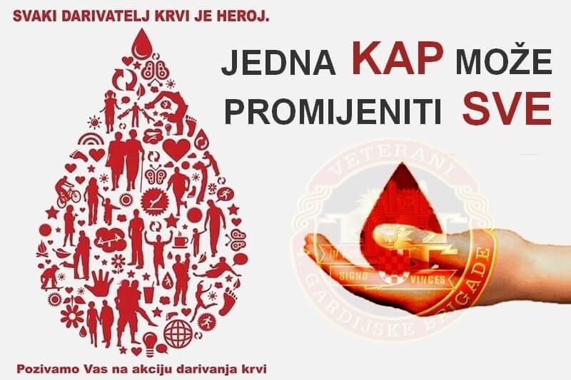Poziv na akciju dobrovoljnog darivanja krvi