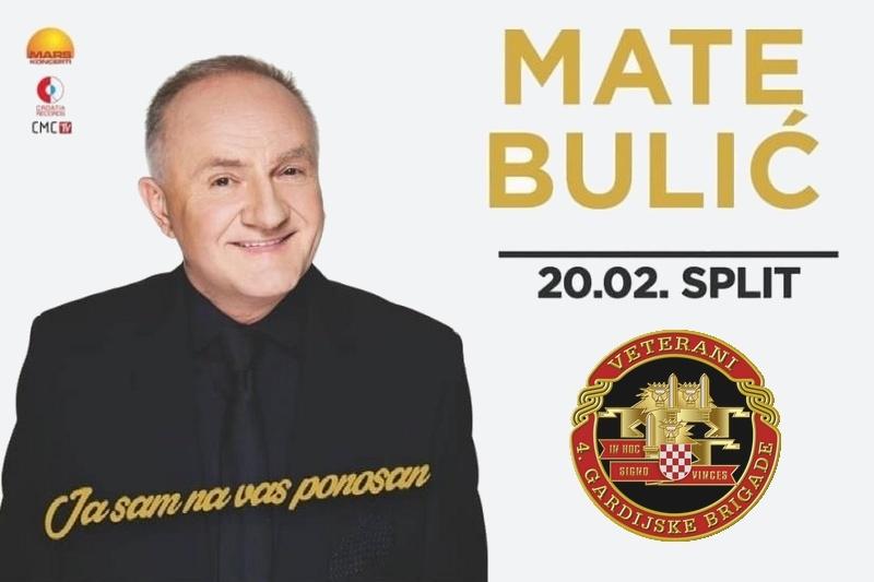 """Obavijest veteranima 4. GBR o besplatnim ulaznicama za koncert Mate Bulića """"Ja sam na vas ponosan"""" u Spaladium Areni u Splitu"""