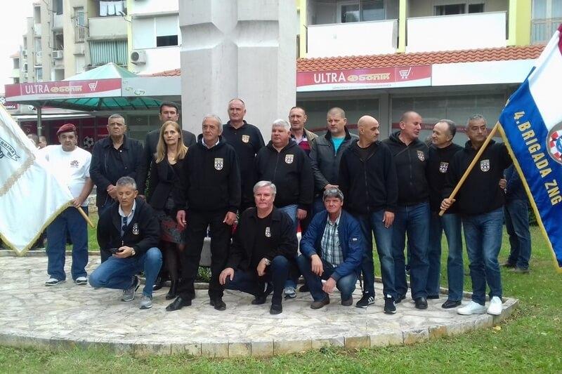 Veterani 4. gardijske brigade na obilježavanju 28. obljetnice obrane grada Zadra