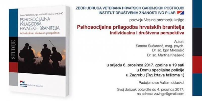 Predstavljanje knjige: Psihosocijalna prilagodba hrvatskih branitelja