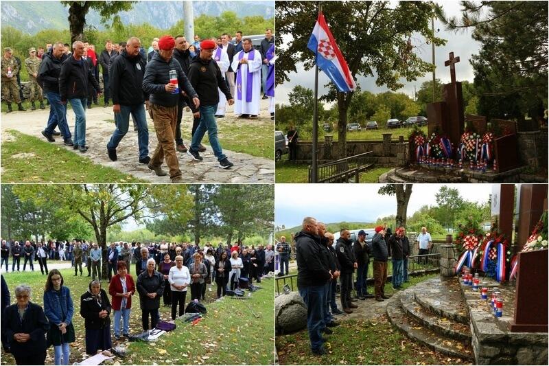 Vrdi iznad Mostara - Veterani 4. gardijske brigade na obilježavanju 27. obljetnice pogibije 18 hrvatskih branitelja