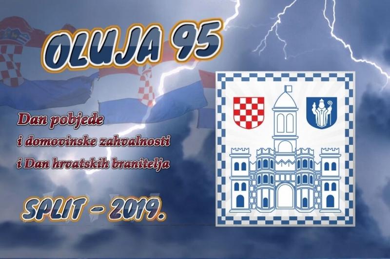 Program obilježavanja Dana pobjede i domovinske zahvalnosti i Dana hrvatskih branitelja 2019. u Splitu.