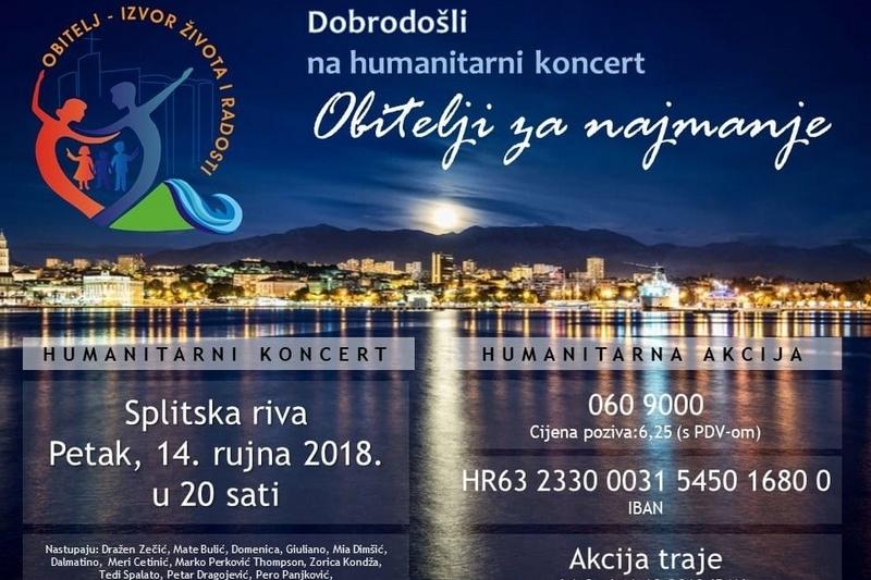 """Poziv na humanitarni koncert """"Obitelji za najmanje"""" u Splitu"""