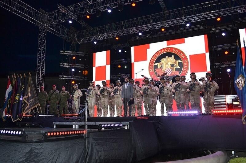 """Veterani 4. gardijske brigade na obilježavanju 24. obljetnice VRO """"Oluja"""" u Splitu"""