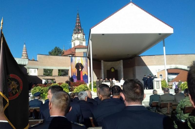 Veterani 4. gardijske brigade na 27. hodočašću Hrvatske vojske, policije i branitelja u Mariji Bistrici