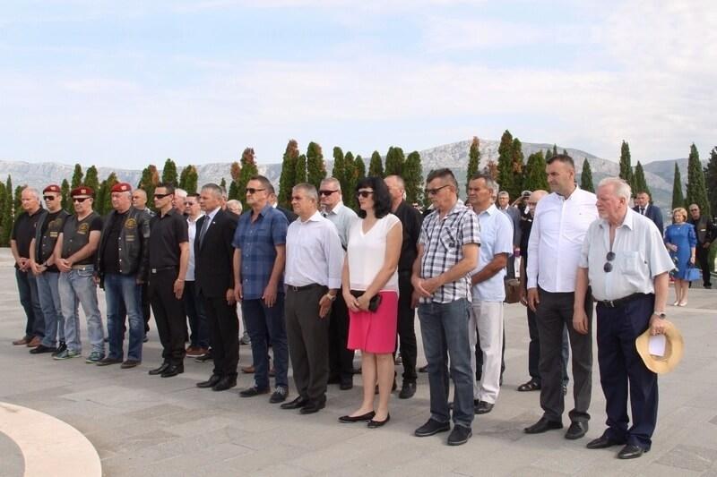 Veterani 4. gardijske brigade na obilježavanju Dana hrvatskih branitelja grada Splita.