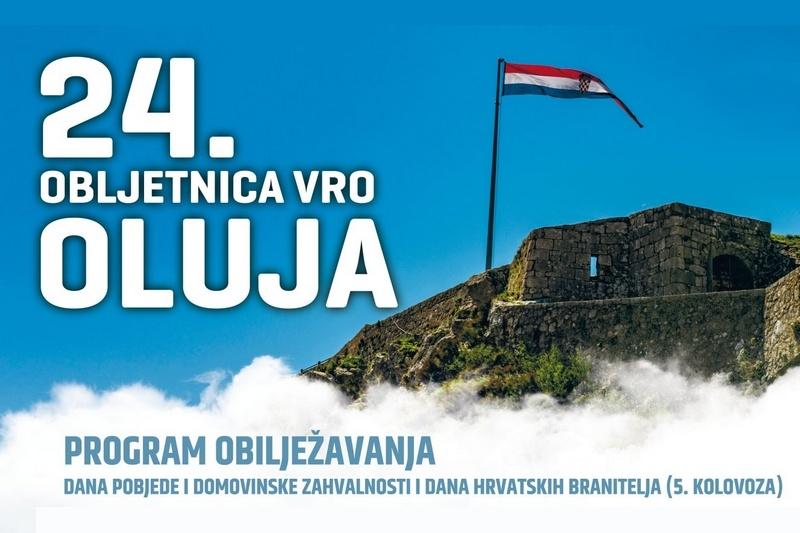 "Program obilježavanja 24.obljetnice VRO ""Oluja"" u Kninu"