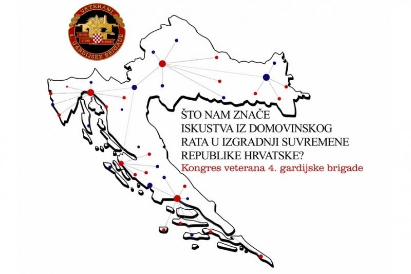 """Poziv na Kongres veterana 4. gardijske brigade """"Što nam znače iskustva iz Domovinskog rata u izgradnji suvremene Republike Hrvatske"""