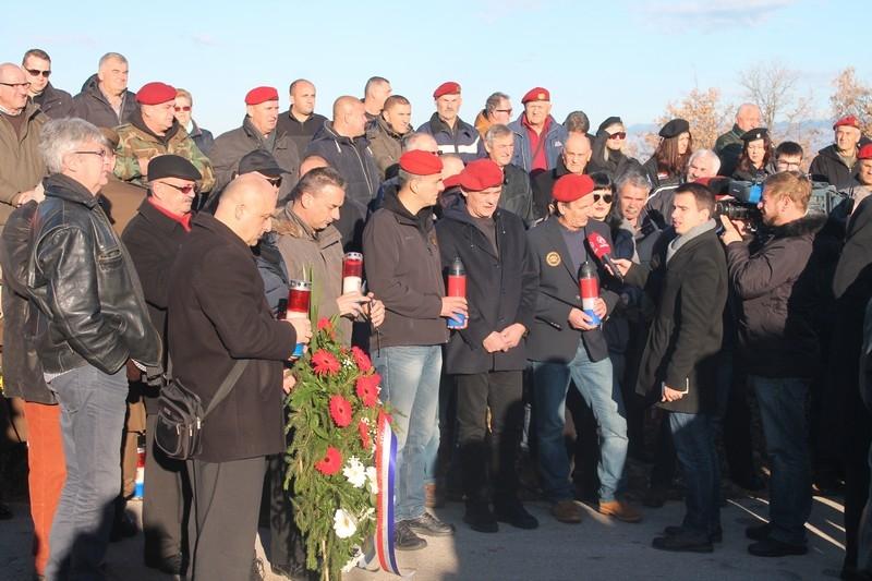 Veterani 4. GBR na obilježavanju 25. obljetnice VRO Maslenica