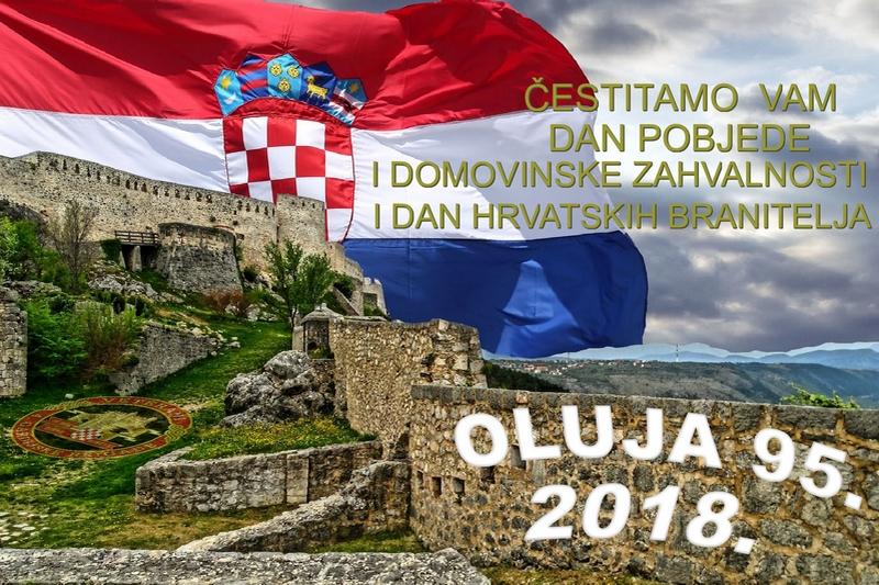 Čestitamo Dan pobjede i domovinske zahvalnosti i Dan hrvatskih branitelja 2018.