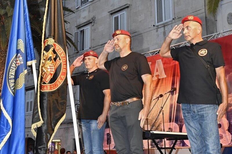 Veterani 4. GBR na obilježavanju Dana pobjede i domovinske zahvalnosti i Dana hrvatskih branitelja u Splitu