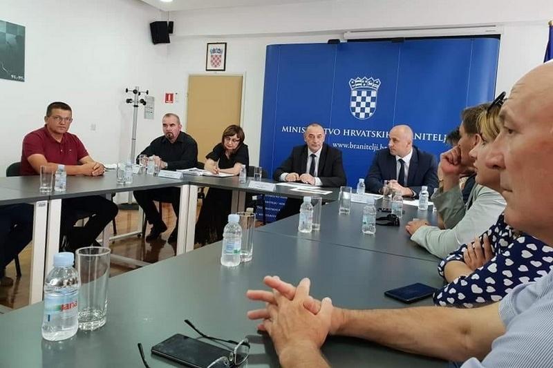 Veterani 4. gardijske brigade na radnom sastanku u Ministarstvu hrvatskih branitelja