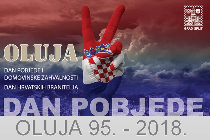Program obilježavanja Dana pobjede i domovinske zahvalnostii Dana hrvatskih branitelja 2018. u Splitu.