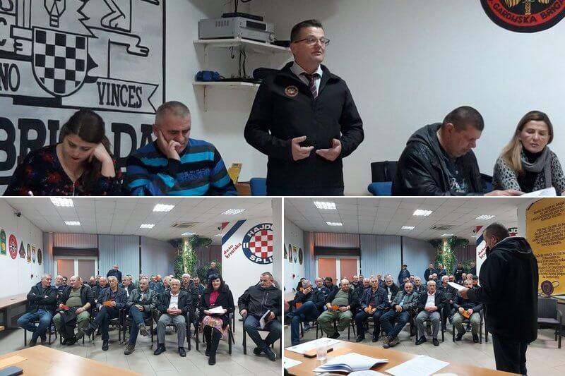 Udruga veterana 4. gardijske brigade održala Redovno - izvještajnu Skupštinu