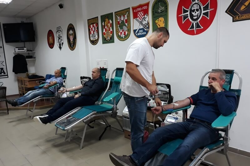 U Udruzi veterana 4. gardijske brigade završena treća ovogodišnja akcija darivanja krvi